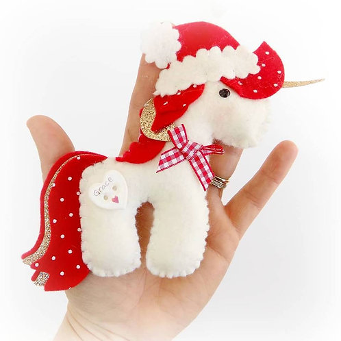 Festive personalised unicorns