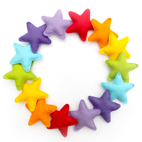 Felt star garland