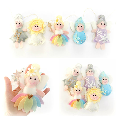 Weather Fairies garland sewing kit