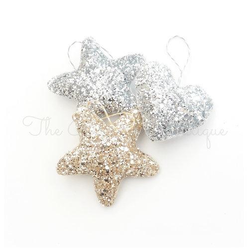 Glitter hearts/stars