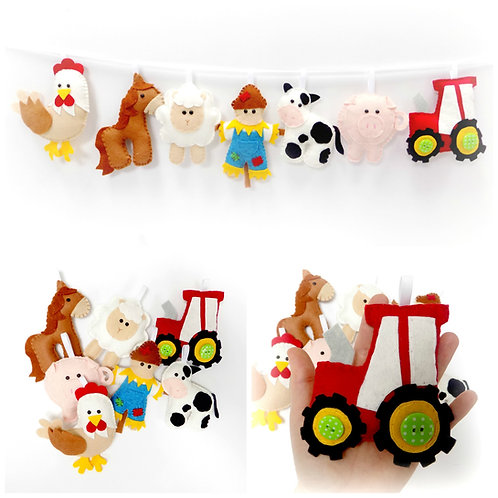 Farm garland sewing kit