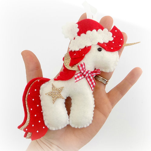 Sew your own Festive Unicorn kit