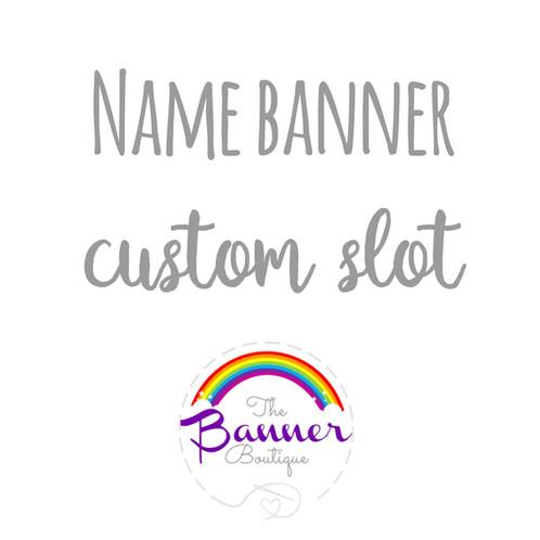 name banner