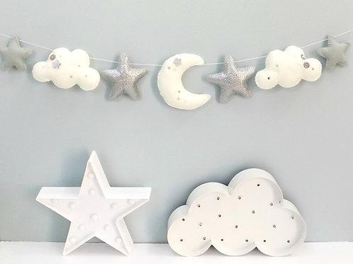 Moon and stars garland