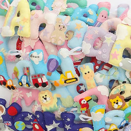 Pile of felt decorations
