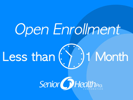 Less than one month 'til 2020 Marketplace Open Enrollment!