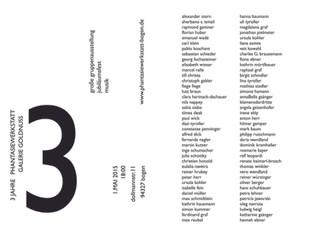 3 Jahre Phantasiewerkstatt - Gruppenausstellung