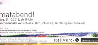 Heimatabend: Vernissage und Lesung in Würzburg-Rottenbauer