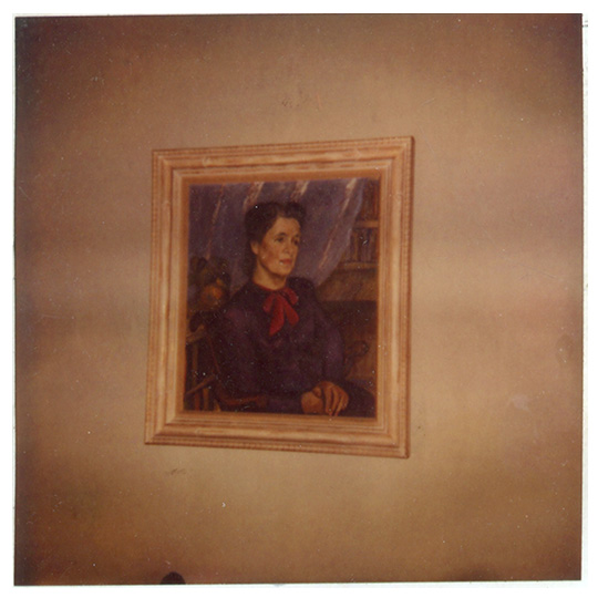 Polaroid of portrait