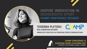 Meet the CHAMP conference speakers: Teodora Pletosu