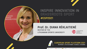 #ESP2021: Interview with the Rector of the Lithuanian Sports University Prof. Dr. Diana Rėklaitienė