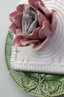 RABBITS, detail of rose bottom