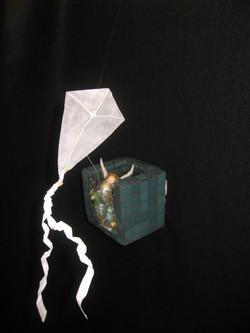 ESCAPE, detail of kite