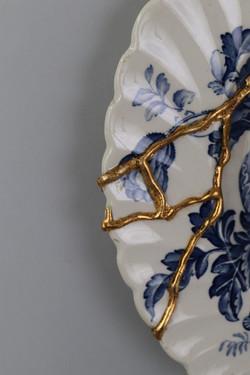 KELOID, detail of gold leaf scar