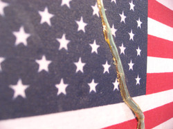 AMERICAN KINTSUGI, detail gold leaf