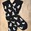 Thumbnail: Paire de chaussettes Mouettes fond noir