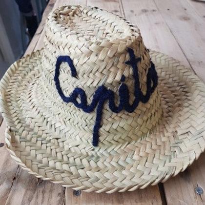 Chapeau de paille enfant Capitaine