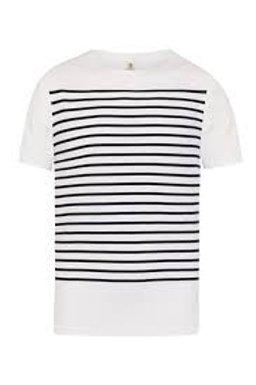 Tee-shirt homme marinière marine Mousqueton