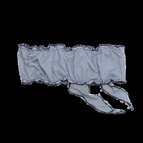 Maillot de bain femme - bandeau rayures bleues