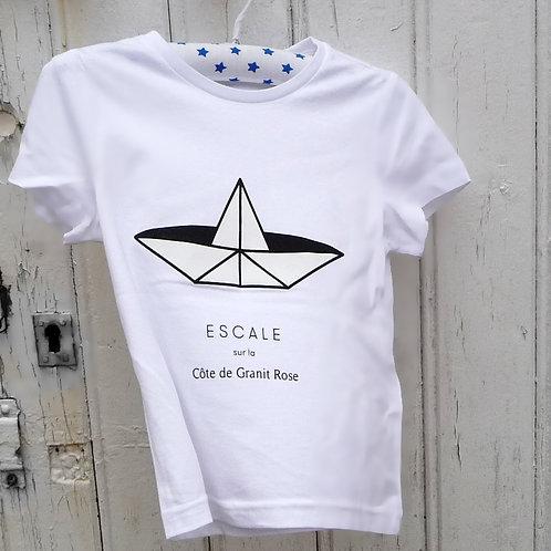 Tee-shirt enfant Paperboat blanc