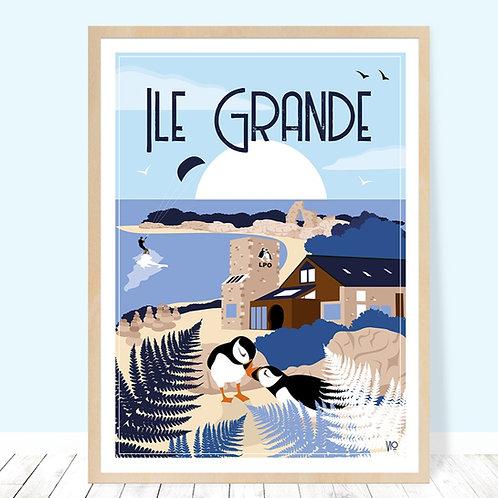 Affiche 30x40 Ile Grande