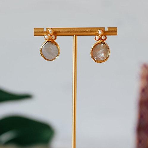 Boucles d'oreille perles d'eau