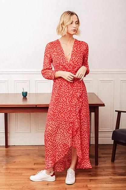 Robe imprimé fleuri rose et fuchsia