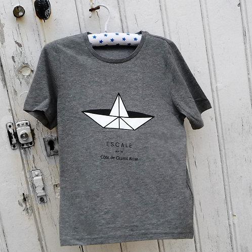 Tee-shirt enfant Paperboat gris