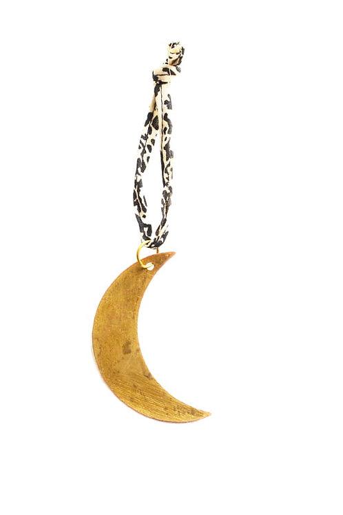 Breloque dorée lune
