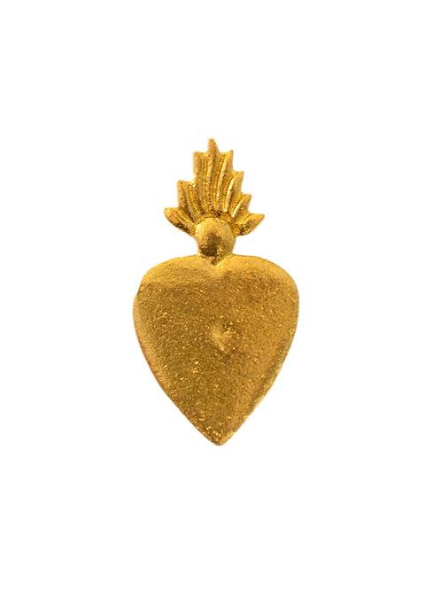 Clou coeur doré