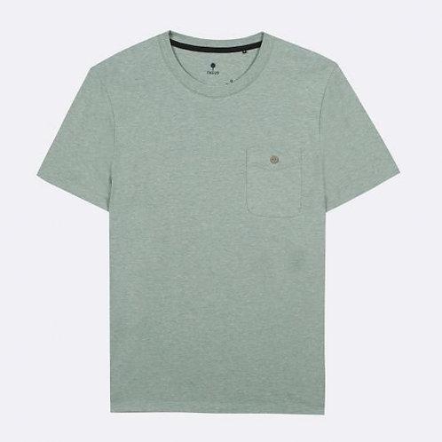 Tee-shirt FAGUO uni vert d'eau