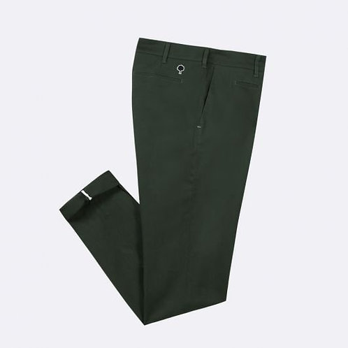 Chino en coton bio vert kaki