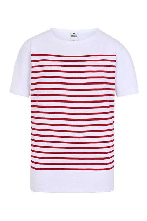 Tee-shirt homme marinière rouge Mousqueton