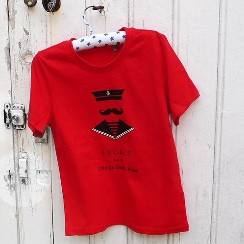 Tee-shirt enfant Seaman rouge