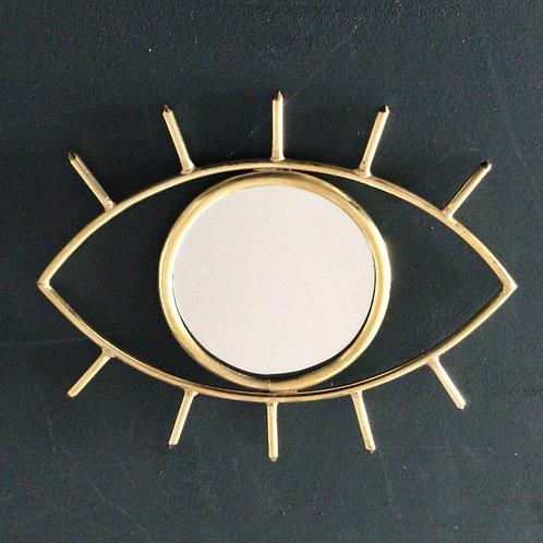 Miroir en cuivre œil