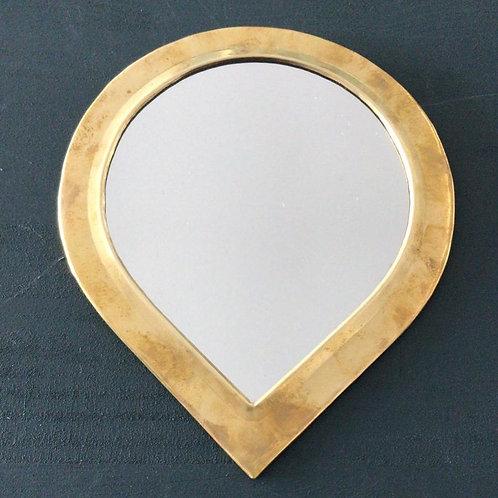 Miroir en cuivre grande goutte