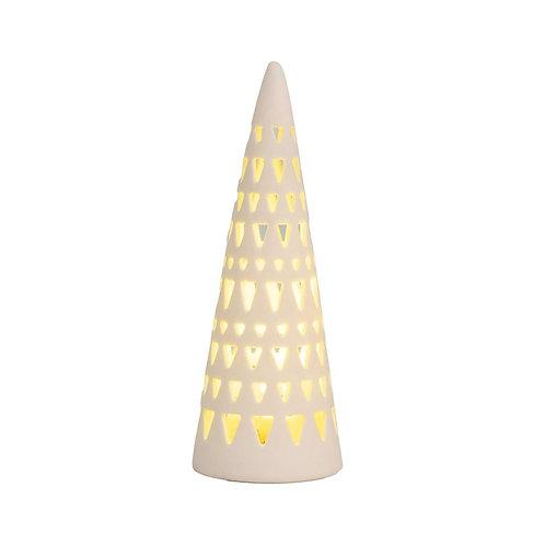 Sapin lumineux en porcelaine taille grande