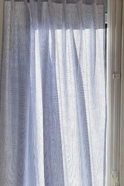 Paire de rideaux en voile de coton PAUL