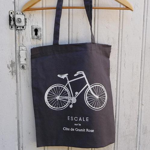 Totebag  A bicyclette ... - 4 couleurs disponibles