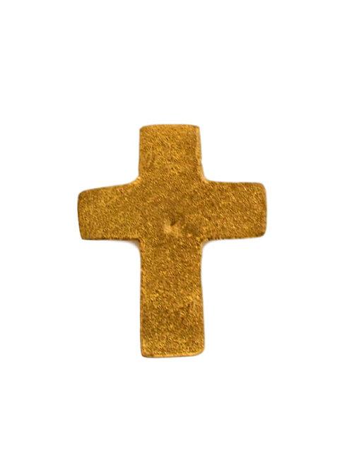 Clou croix doré