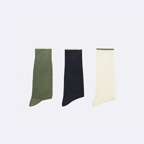Chaussettes unies FAGUO x 3