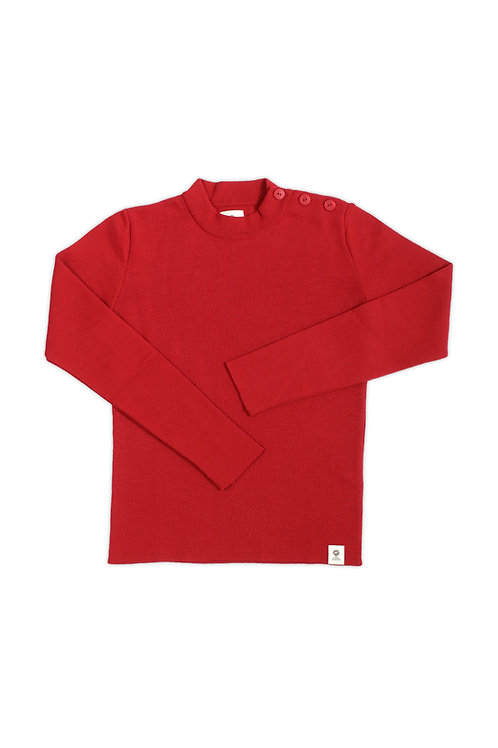 Pull marin femme rouge