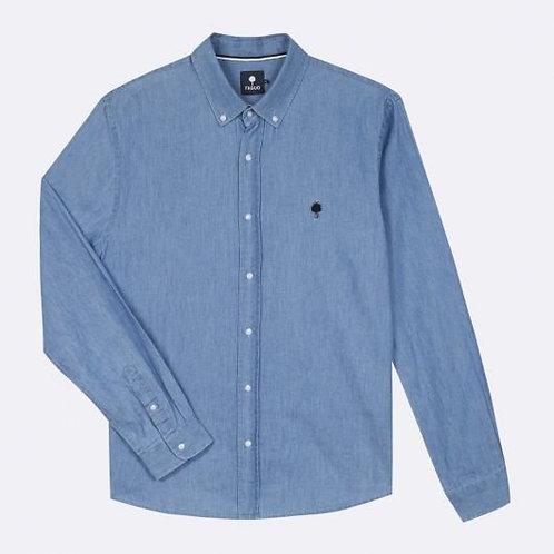 Chemise en coton bleu jean Faguo