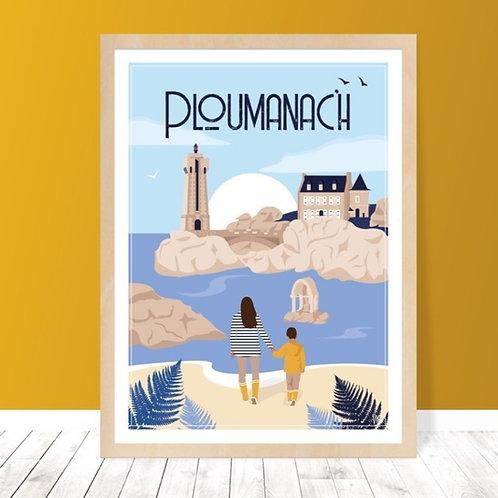 Affiche 30x40 Ploumanac'h