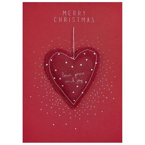 Carte double Noël - coeur