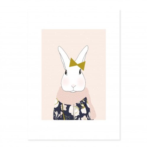 Affiche A4 Mme Lapin