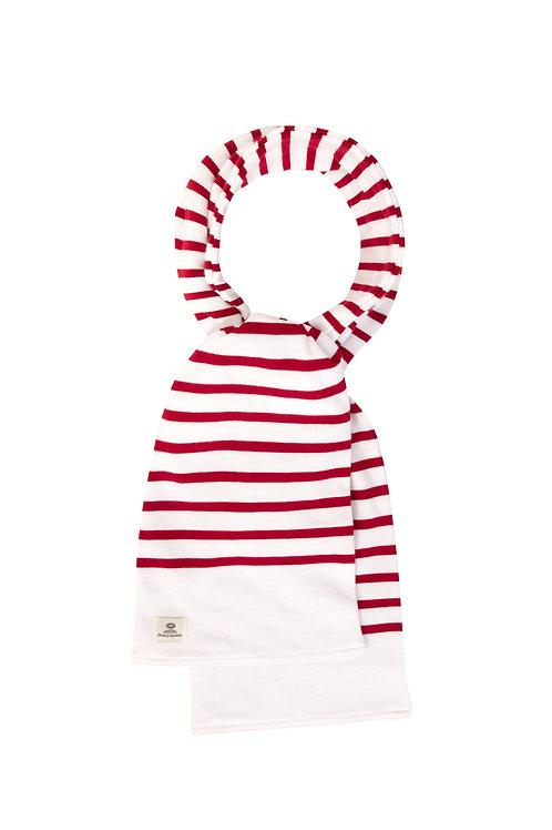 Écharpe marinière enfant rouge
