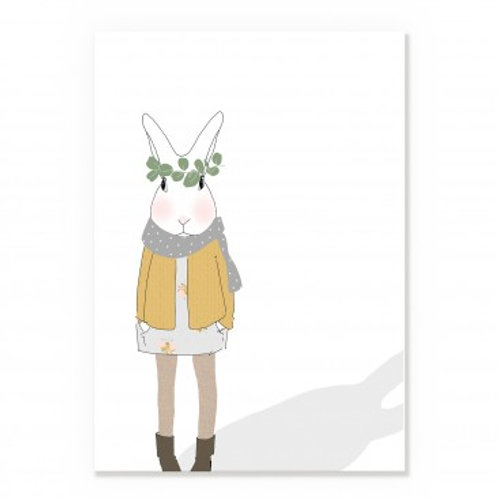 Affiche personnage lapin automnal A3