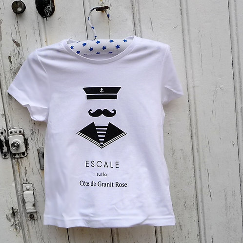 Tee-shirt enfant Seaman blanc