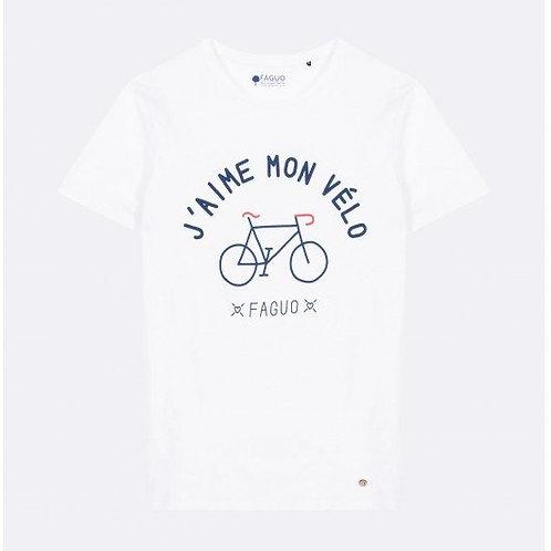 Tee-shirt FAGUO en coton blanc